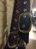 HB Halsters Rubber printed BORDEAUX / PAARS of NAVY_