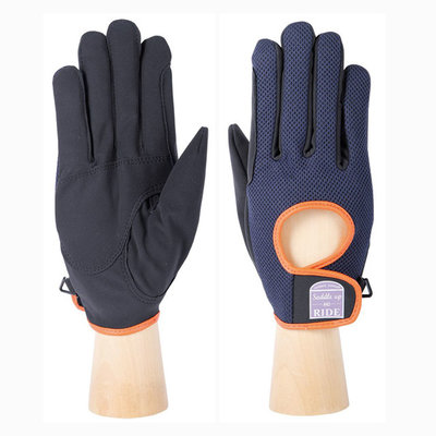 Handschoenen Harry's Horse Gloves Bromley Total-eclipse zwart/blauw