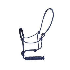 EPONA ROPE HALSTER AND LEAD BLAUW